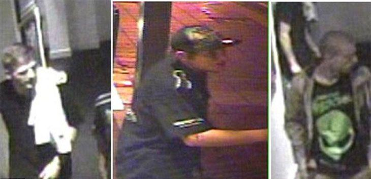 Police believe the three males had British or Irish accents and had been at the Rose and Crown Hotel on Victoria Road earlier in the night. Photo: NSW Police Media