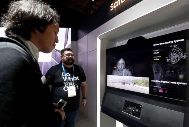 PHOTO: An attendee tries out Driver Monitoring System, a collaboration between Samsung Electronics and Harman, during the 2019 CES in Las Vegas, Jan. 9, 2019. (Steve Marcus/Reuters)
