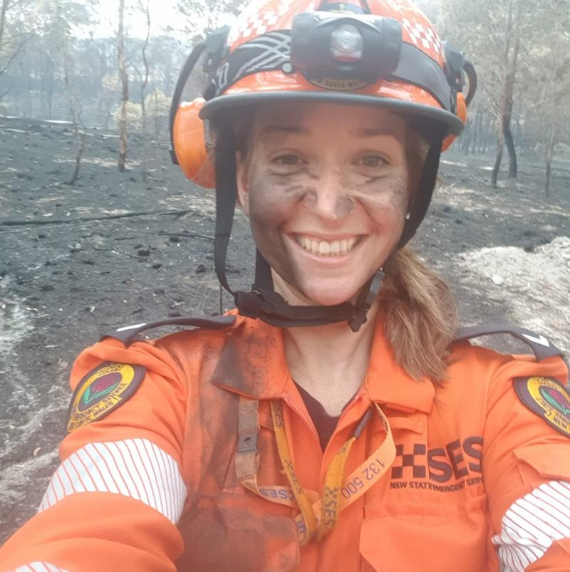 As a volunteer with SES, Natalia has recently travelled to fire affected areas to help out. Source: Facebook/supplied