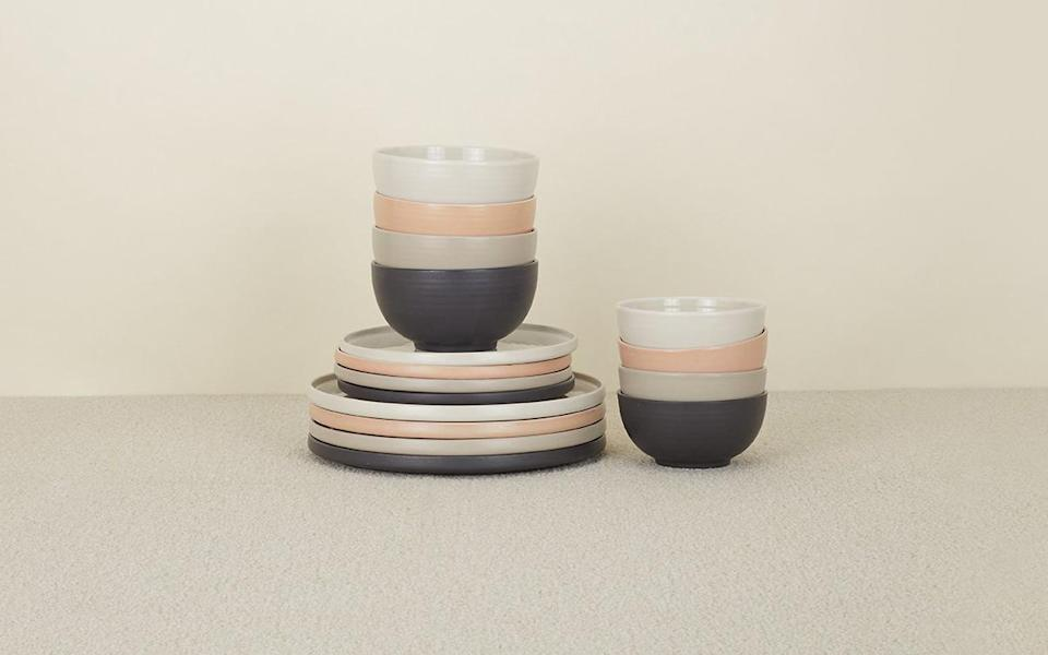 """<p>This dishware collection was curated by Hawkins New York, who sources their bespoke products from artisans all over the world. Each piece of stoneware is produced without any excess or design flourish, something Hawkins calls function over form, a return to the simplicity of materials that do exactly what they're supposed to and nothing more.</p> <p><strong><em>Shop Now: </em></strong><em>Hawkins New York Shaker Dinnerware, from $10, </em><a href=""""https://www.hawkinsnewyork.com/products/shaker-dinnerware"""" rel=""""nofollow noopener"""" target=""""_blank"""" data-ylk=""""slk:hawkinsnewyork.com"""" class=""""link rapid-noclick-resp""""><em>hawkinsnewyork.com</em></a><em>.</em></p>"""