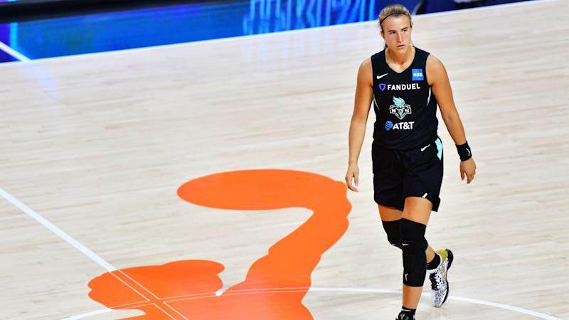 Sabrina Ionescu injury update: Liberty star carried off floor after ugly ankle sprain