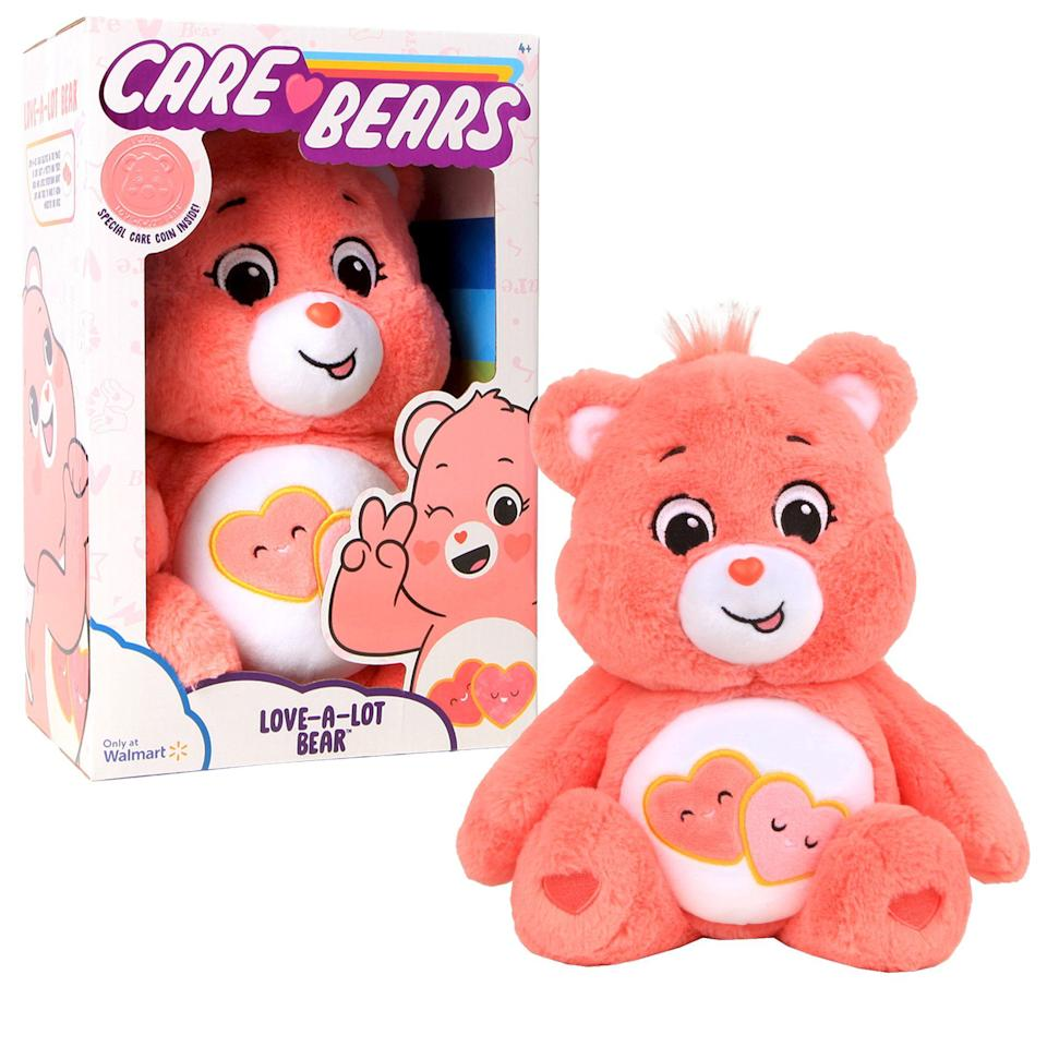 "<p><strong>Care Bears</strong></p><p>walmart.com</p><p><strong>$12.88</strong></p><p><a href=""https://go.redirectingat.com?id=74968X1596630&url=https%3A%2F%2Fwww.walmart.com%2Fip%2F515234036&sref=https%3A%2F%2Fwww.countryliving.com%2Fshopping%2Fgifts%2Fg5114%2Fvalentines-day-gifts-for-kids%2F"" rel=""nofollow noopener"" target=""_blank"" data-ylk=""slk:Shop Now"" class=""link rapid-noclick-resp"">Shop Now</a></p><p>The new Love-a-Lot Care Bear is the perfect way to celebrate Valentine's Day. </p>"