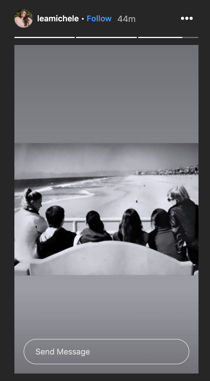 """Lea Michele shared this photo of the """"Glee"""" cast. (Photo: Instagram)"""