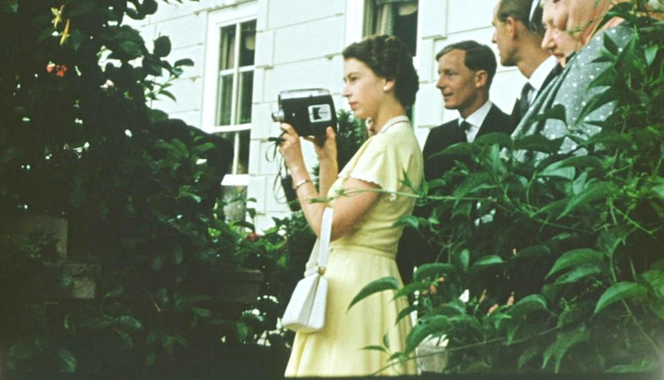 A young Queen films with a Cine camera at a private house, as a guest of the Governor General of New Zealand, Sir Willoughby NorrieThe Queen Unseen/ITV/Factual Fiction