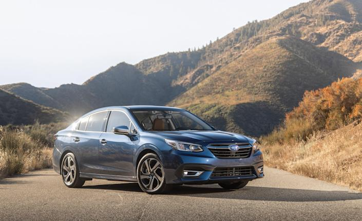 """<p>Subaru completely redesigned the Legacy sedan for 2020, and although it shares its underpinnings with the Outback station wagon—including its near-premium interior design—its three-box shape is unique. Read the full story <a href=""""https://www.caranddriver.com/reviews/a28811392/2020-subaru-legacy-drive/"""" rel=""""nofollow noopener"""" target=""""_blank"""" data-ylk=""""slk:here"""" class=""""link rapid-noclick-resp"""">here</a>.</p>"""