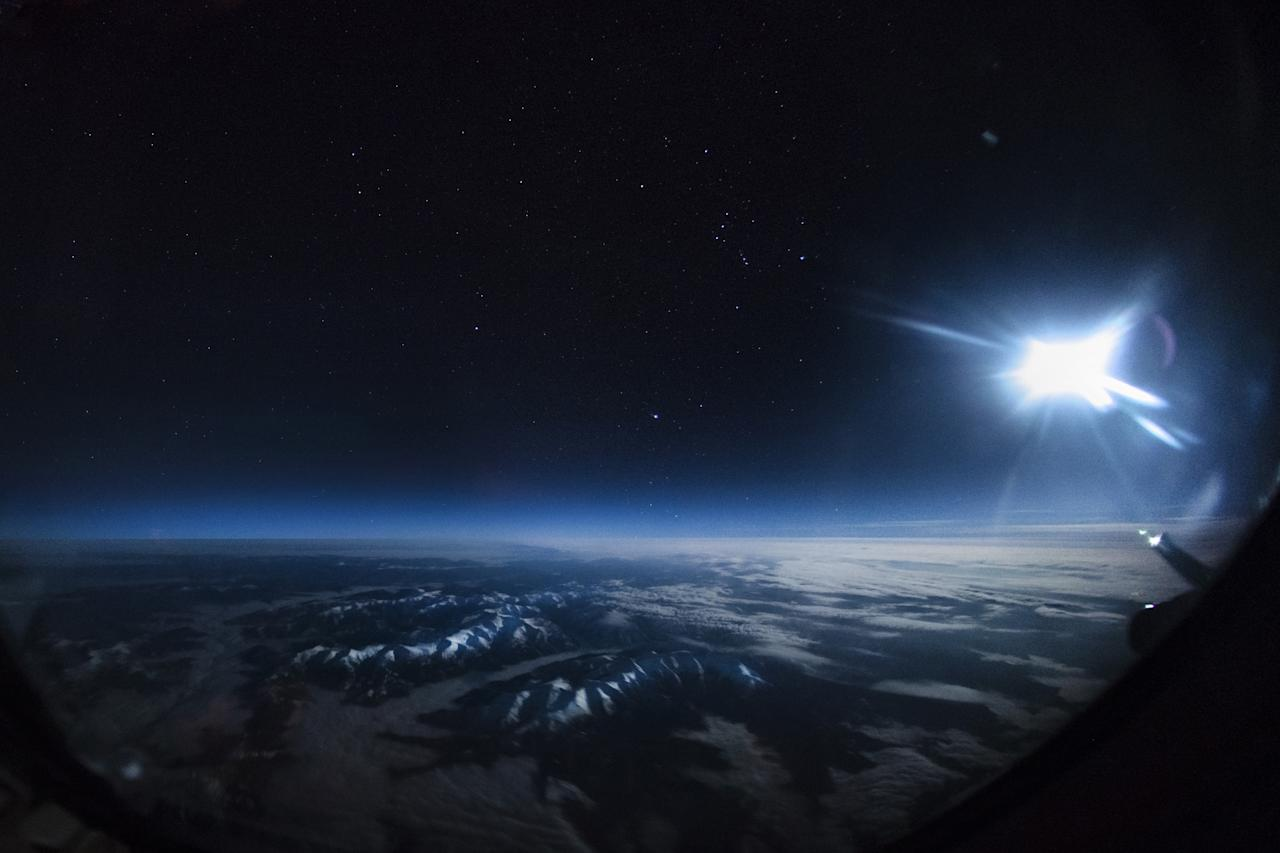 <p>Moonlight over Mongolia. (Photo: Christiaan van Heijst/Caters News) </p>
