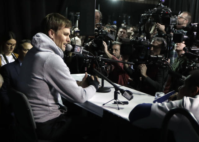 A Boston radio personality who disparaged the young daughter of New England Patriots quarterback Tom Brady was back on the air Tuesday morning. (AP)