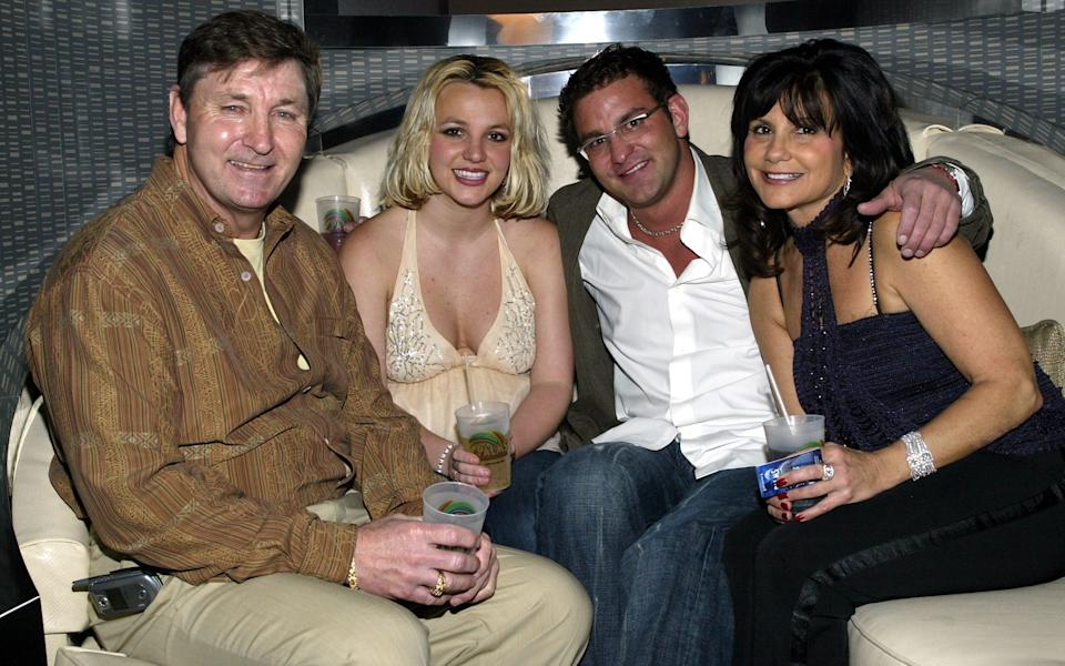 Britney with her father Jamie, brother Bryan and mother Lynne