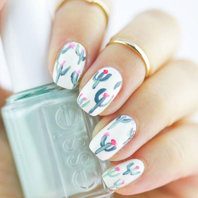 <p>A year-round symbol of hot summer air, cacti are just the thing to wear on your nails when temperatures finally spike. </p>