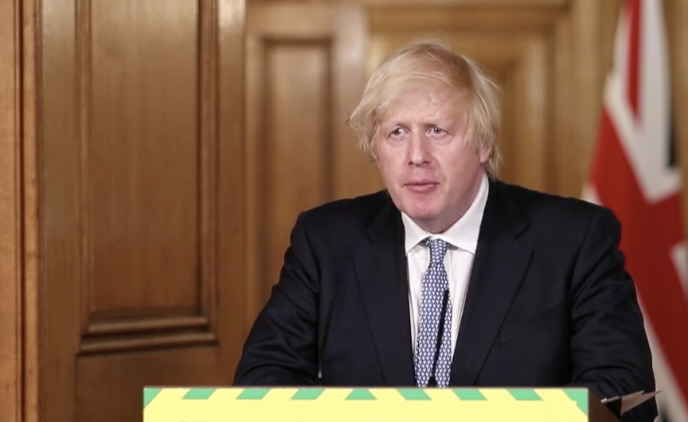 Boris Johnson warned local coronavirus outbreaks will become 'a feature of our lives'. (@10DowningStreet/Twitter)