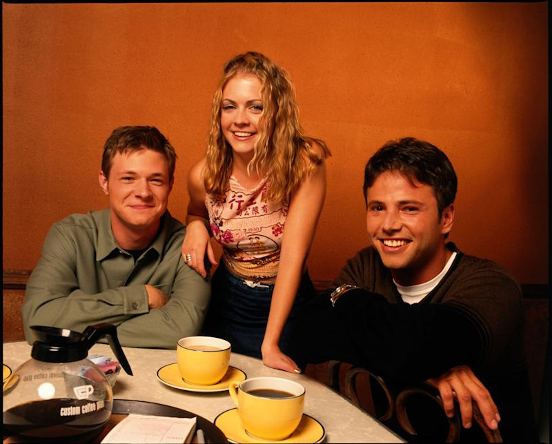 SABRINA, THE TEENAGE WITCH Season Four - 8/15/99, Nate Richert, Melissa Joan Hart, David Lascher (Josh), (Photo by Bob D'Amico/Walt Disney Television via Getty Images)