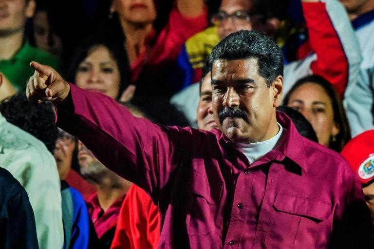 """43 prisoners behind bars for """"political violence"""" were released as part of a program by Venezuelan President Nicolas Maduro, pictured May 2018"""