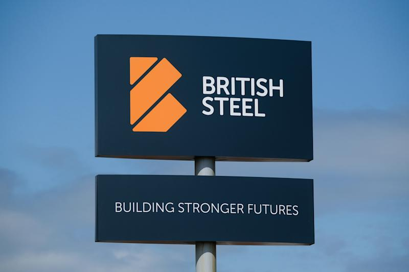 "SKINNINGROVE, ENGLAND - MAY 21: General view of signs at the British Steel Special Profiles works on May 21, 2019 in Skinningrove, England. British Steel is on the verge of administration as it continues to lobby for government backing. The UK's second-biggest steel maker had been trying to secure £75m in financial support to help it to address ""Brexit-related issues"". If the firm does not get the cash it would put 4,000 jobs at risk and endanger 20,000 in the supply chain. (Photo by Ian Forsyth/Getty Images)"