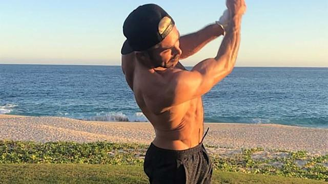 Zac Efron didn't invent the shirtless golf swing, but he has undeniably perfected it.