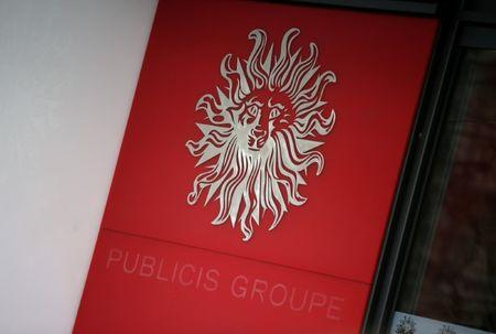 FILE PHOTO: The logo of Publicis Groupe is seen at the company's headquarters in Paris