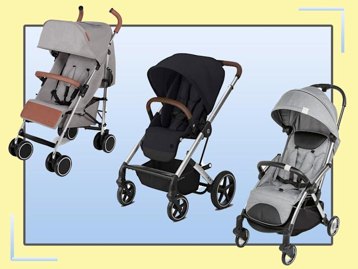 Choose a one hand folding system, designs that clip onto the back of a bike or a lightweight double buggy (The Independent)