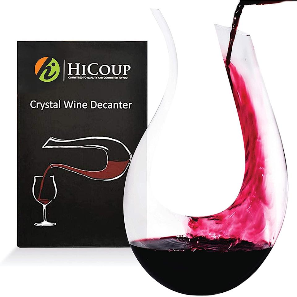 <p>Aerate your wine with the <span>Wine Decanter by HiCoup</span> ($30, originally $55). If you aren't a fan of wine, you can use this stylish carafe to serve juice, sodas, and refreshing waters.</p>