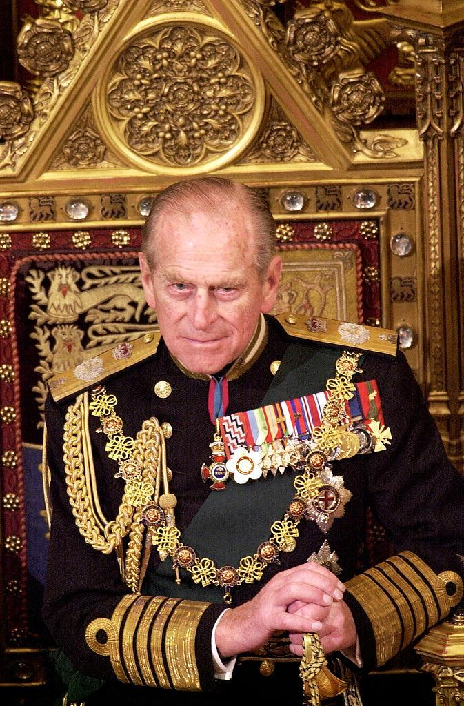 Prince Philip In The House Of Lords At The State Opening Of Parliament In London on DECEMBER 06 2000
