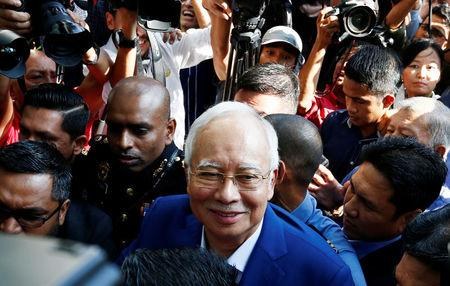 Malaysia's former prime minister Najib Razak arrives to give a statement to the Malaysian Anti-Corruption Commission (MACC) in Putrajaya, Malaysia May 22, 2018. REUTERS/Lai Seng Sin