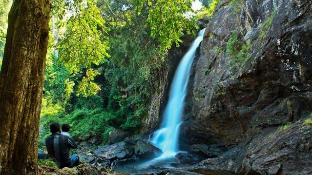 "The Soochipara Falls in the hilly Wayanad district of Kerala are one of the most sought-after attractions in the region. Also known as the Sentinel Falls, the three-tiered waterfall plunges from a cliff face into a series of pools. Soochipara in Malayalam literally means Needle Rock.<br><br>By <a href=""https://www.flickr.com/photos/sarath_kuchi/"" rel=""nofollow noopener"" target=""_blank"" data-ylk=""slk:Sarath.Kuchi"" class=""link rapid-noclick-resp"">Sarath.Kuchi</a><br><br>"