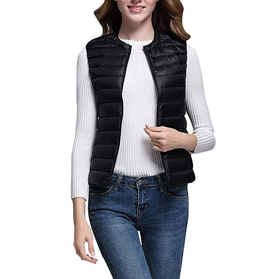 """<p>A puffer vest is not exactly a surprisingly warm piece, but a collarless version makes this typically sporty item dressy. With a more streamlined neckline, the ultra-thin vest will easily lie flat when layered under a coat that needs some added insulation, for example. It can also be worn over a long sleeve shift dresses without looking like you are <a href=""""https://www.realsimple.com/health/fitness-exercise/hiking-benefits"""">heading for a hike</a> post work.</p> <p><strong>To buy:</strong> $30; <a href=""""https://www.amazon.com/Womens-Package-Compact-Collarless-Waistcoat/dp/B075CWSGHW/ref=as_li_ss_tl?ie=UTF8&linkCode=ll1&tag=rsfashionwarmclothesgporcaro0120-20&linkId=9b1011bb61d789f7500513e67625c14b&language=en_US"""" target=""""_blank"""">amazon.com</a>.</p>"""