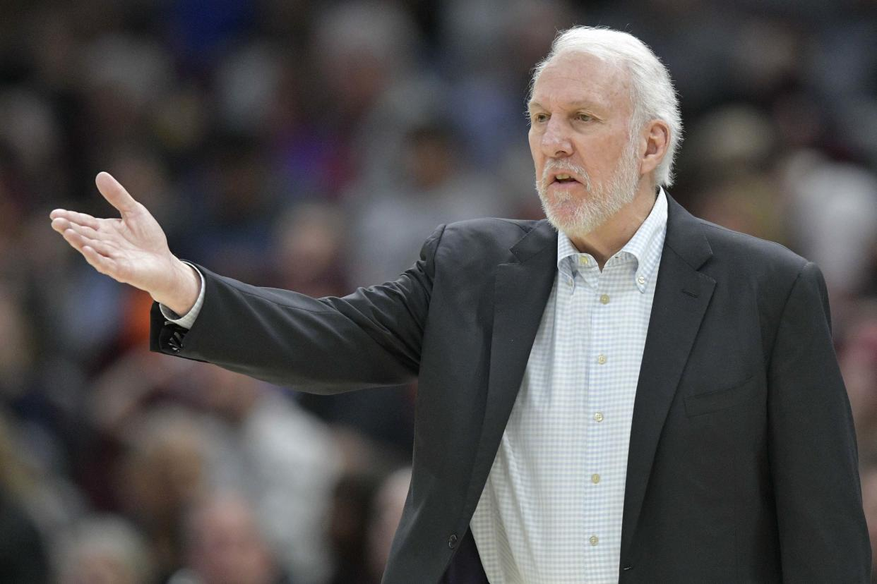 Gregg Popovich told the Spurs page of the Marcus Morris saga, and he was not satisfied. (Reuters)