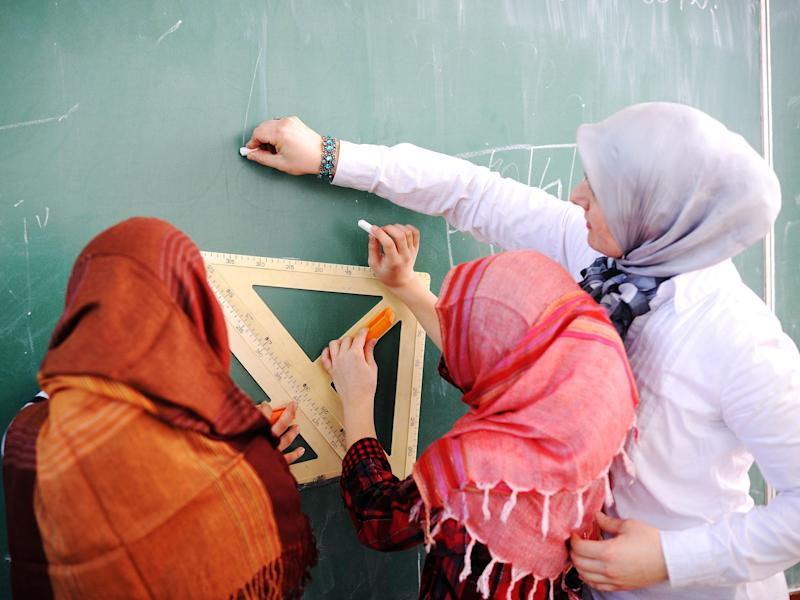 Survey found 18 per cent of 800 primary schools in England list the hijab as part of their uniform policy (file image): iStock