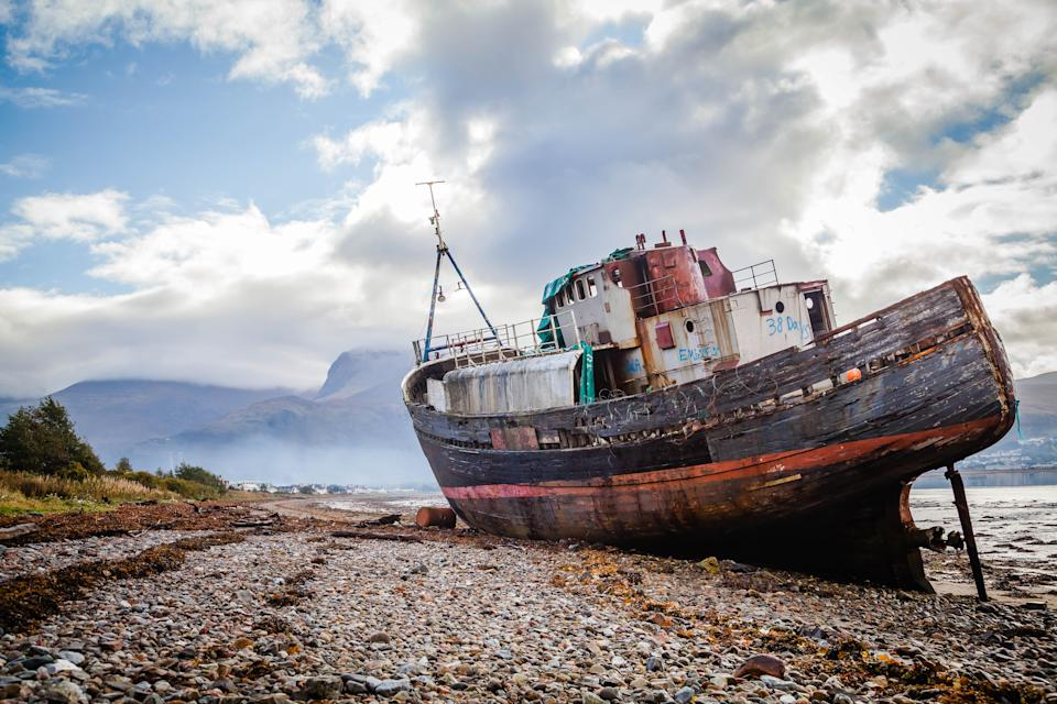Corpach shipwreck at Loch Linnhe