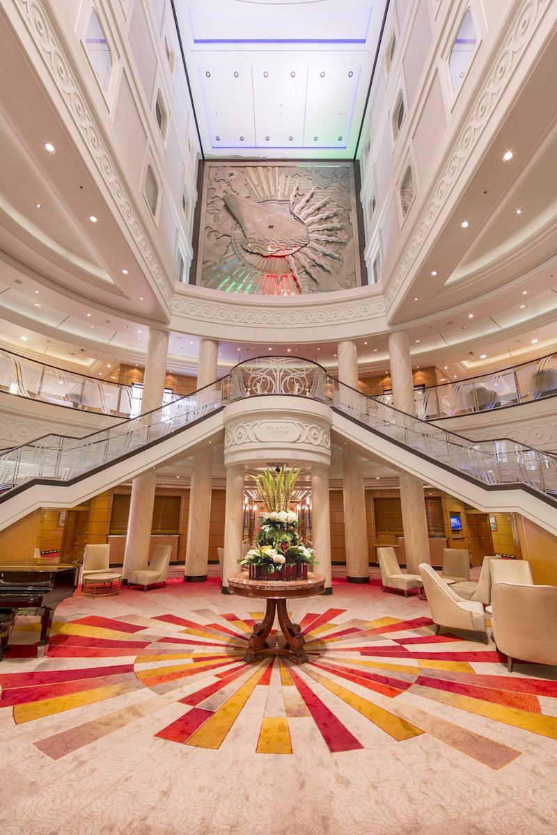 The Grand Lobby aboard Queen Mary 2