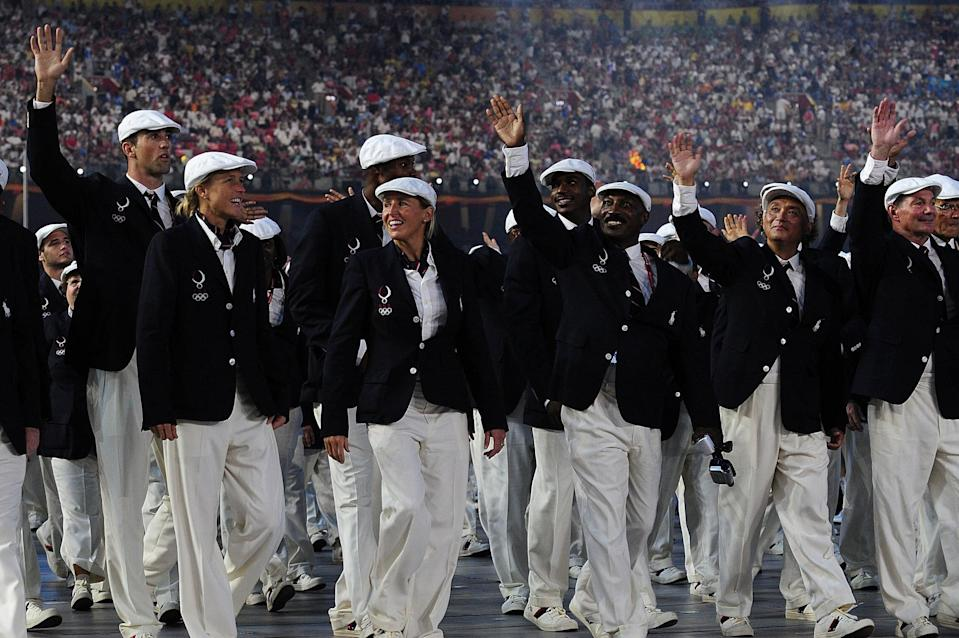 <p>Ralph Lauren had his Olympic debut in 2008, dressing Team USA in bright white caps, tailored trousers, and timeless navy blazers. </p>
