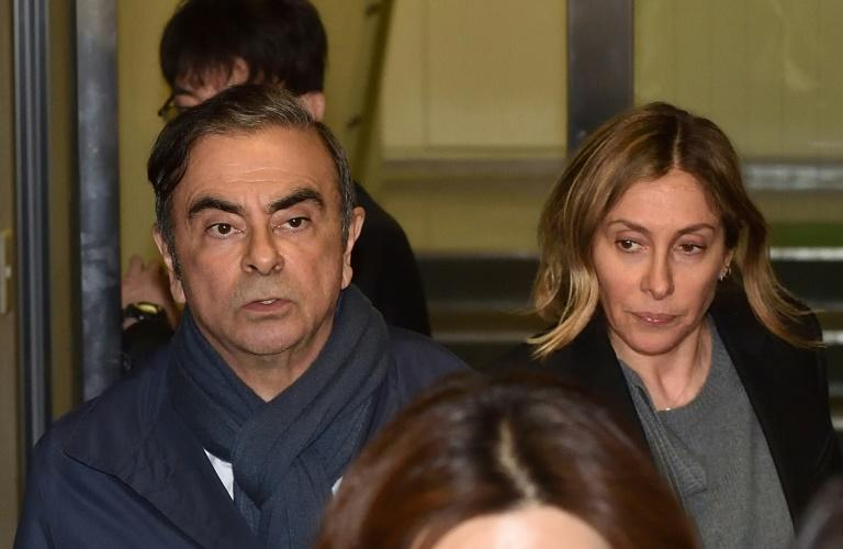 Carlos Ghosn was reunited with his wife in Lebanon after fleeing Japan last month