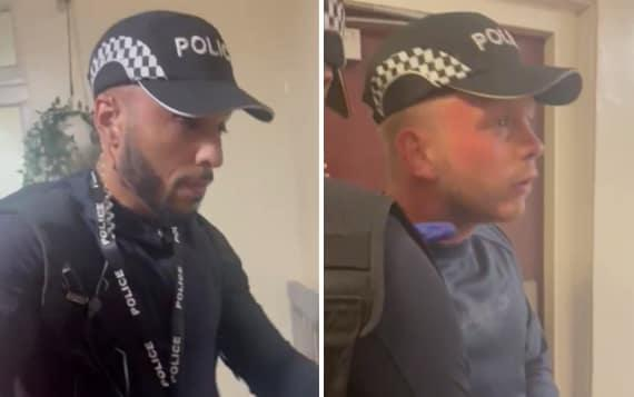 The two men suspected of impersonating police officers - Met Police