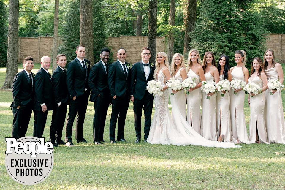 <p>Bones and Parker had family and friends, including former tennis pro Andy Roddick, <em>Bobby Bones Show</em> costars and Parker's sister Grace by their sides for the big day.</p>