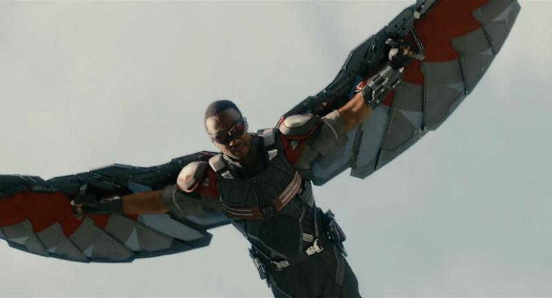 Anthony Mackie injured himself when he first flew as Falcon (Image by Marvel Studios)