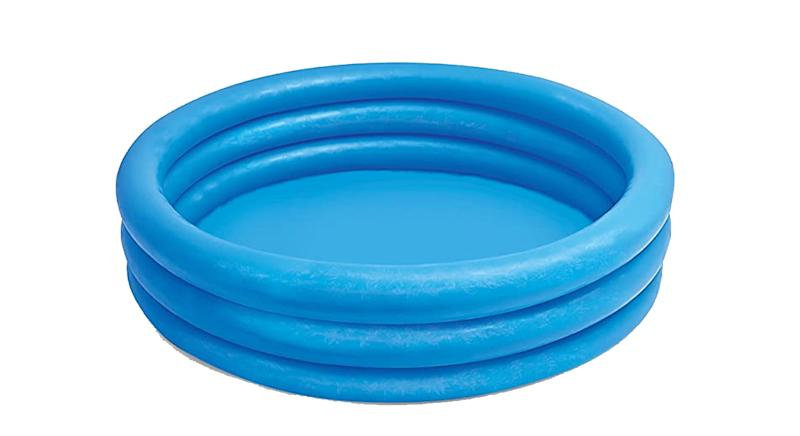 Crystal Blue Three Ring Inflatable Paddling Pool