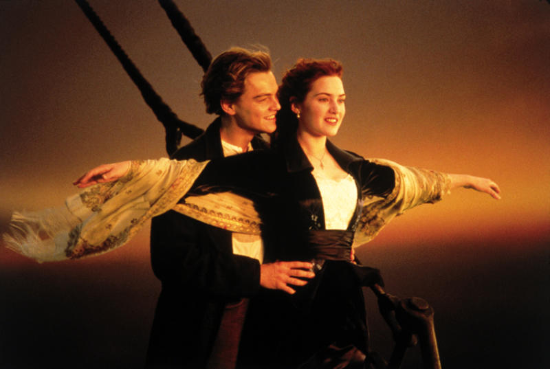 "FILE - In this undated image released by Paramount Home Entertainment, actors Kate Winslet and Leonardo DiCaprio are shown in a scene from, ""Titanic."" AP Photo/Paramount Pictures, File)"