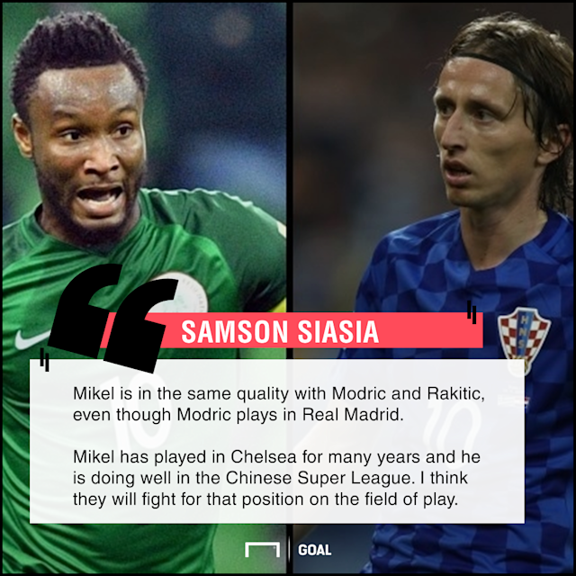 The former Super Eagles forward made a bold comparison between the former Chelsea player and the two Croatia midfielders ahead of the World Cup