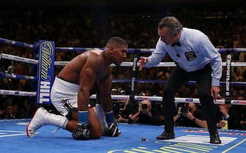 <span>Anthony Joshua during his defeat to Andy Ruiz Jr</span> <span>Credit: Getty Images </span>