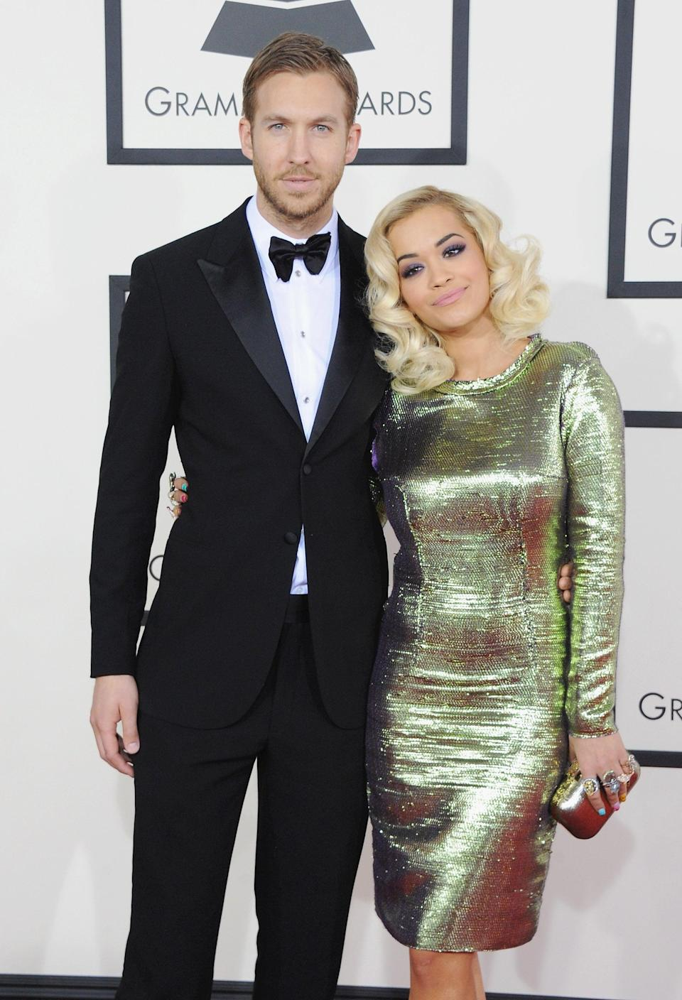 """<p>From about 2013 to 2014, Ora was involved with Calvin Harris, the DJ and songwriter. While they were together, they collaborated on the hit single """"I Will Never Let You Down,"""" but after they broke up, """"custody"""" of the song became a sticking point between the exes: at one point, Ora had to drop out of performing it at the 2014 Teen Choice Awards after Harris refused to allow her to perform it.</p> <p>""""<a href=""""http://www.youtube.com/watch?v=p6xwhCREA94"""" class=""""link rapid-noclick-resp"""" rel=""""nofollow noopener"""" target=""""_blank"""" data-ylk=""""slk:Ask Calvin"""">Ask Calvin</a>,"""" she told <a class=""""link rapid-noclick-resp"""" href=""""https://www.popsugar.com/Ryan-Seacrest"""" rel=""""nofollow noopener"""" target=""""_blank"""" data-ylk=""""slk:Ryan Seacrest"""">Ryan Seacrest</a> on his radio show when asked why she didn't perform at the last minute. <strong>Billboard</strong> later reported that <a href=""""http://www.billboard.com/articles/news/6251382/rita-ora-calvin-harris"""" class=""""link rapid-noclick-resp"""" rel=""""nofollow noopener"""" target=""""_blank"""" data-ylk=""""slk:Harris denied permission"""">Harris denied permission</a> for any televised performances and sync licenses of the track, tweeting that he had a """"damn good reason"""" for it. Ora ultimately had to scrap an entire album they'd planned.</p> <p>""""<a href=""""http://www.marieclaire.com/celebrity/a14704/rita-ora-july-2015-cover/"""" class=""""link rapid-noclick-resp"""" rel=""""nofollow noopener"""" target=""""_blank"""" data-ylk=""""slk:I thought he had my back"""">I thought he had my back</a> and that he'd never steer me wrong. But then 'I Will Never Let You Down' came out, and everything started to go a bit weird. I don't know if it was because business was mixed with personal or what,"""" Ora told <strong>Marie Claire</strong> in 2015.</p>"""