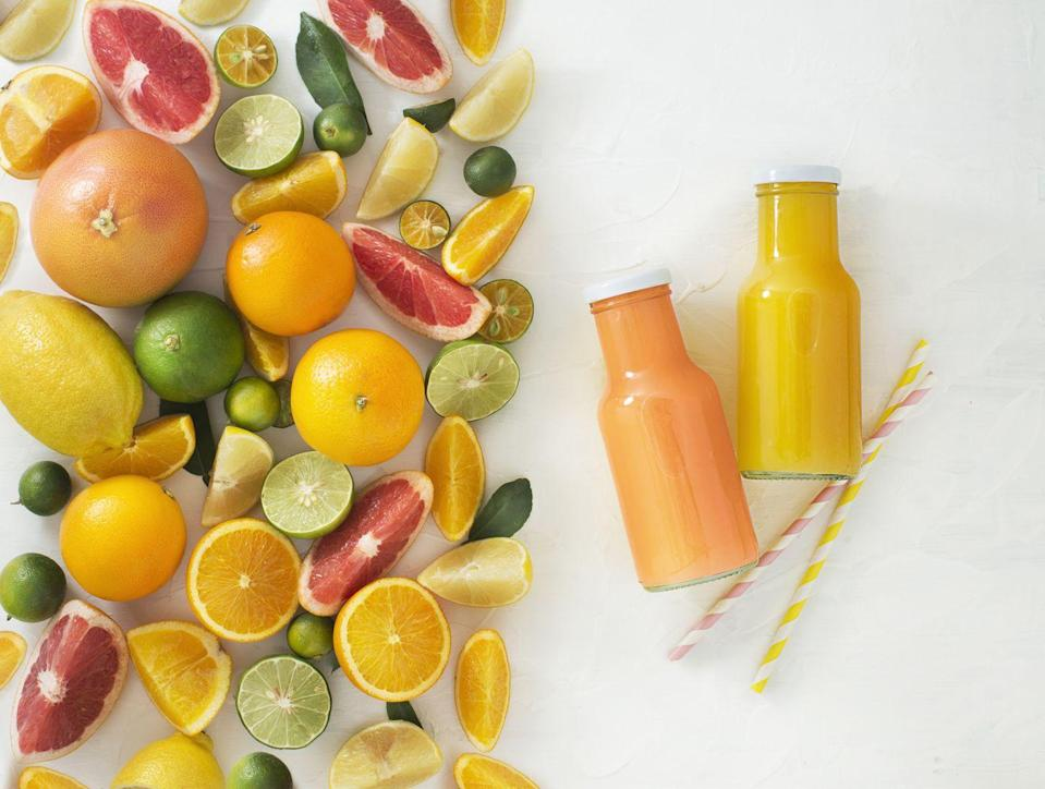 <p>Although juice can be high in calories and added sugar, depending on the variety, Boehmer says it can be included in your weight loss plan. She recommends diluting it with water and slowly increasing your ratio of water until the juice is just an accent. </p><p>You might want to start with a half a cup of both juice and water. Then, use 1/4 cup of juice to 3/4 cups of water. This will keep you hydrated without overdoing it on calories. Be sure to buy 100 percent juice that doesn't included added sugars. </p>