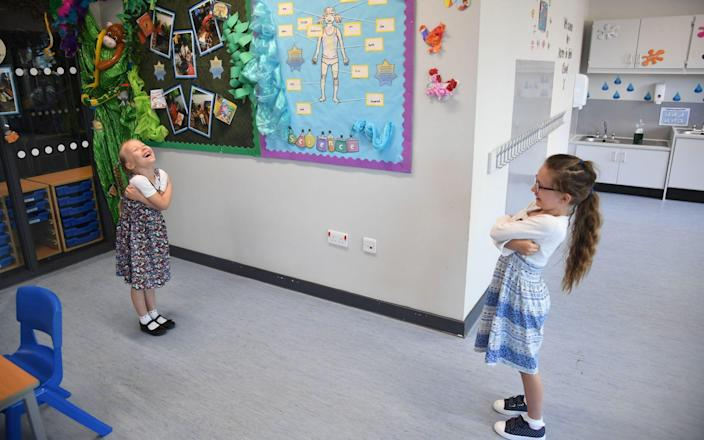 Pupils have been returning to classrooms as primary schools gradually reopen amid the Covid-19 crisis - Jeremy Selwyn
