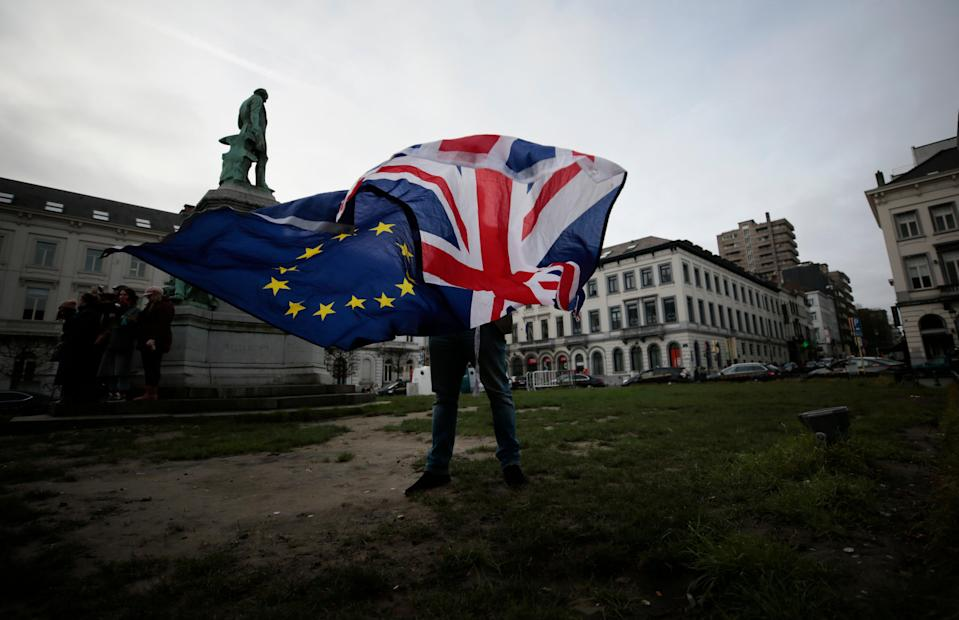 Five years ago, Britons voted in the Brexit referendum — new polling shows that not much has changed since (AP)