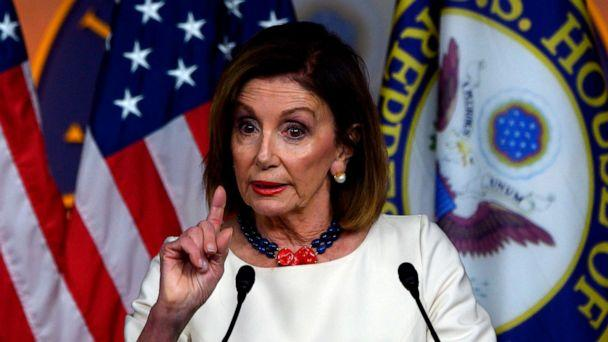 PHOTO: Speaker of the House Nancy Pelosi talks during her weekly press briefing on Capitol Hill in Washington, D.C. on Sept, 26, 2019. (Andrew Caballero-reynolds/AFP via Getty Images, FILE)