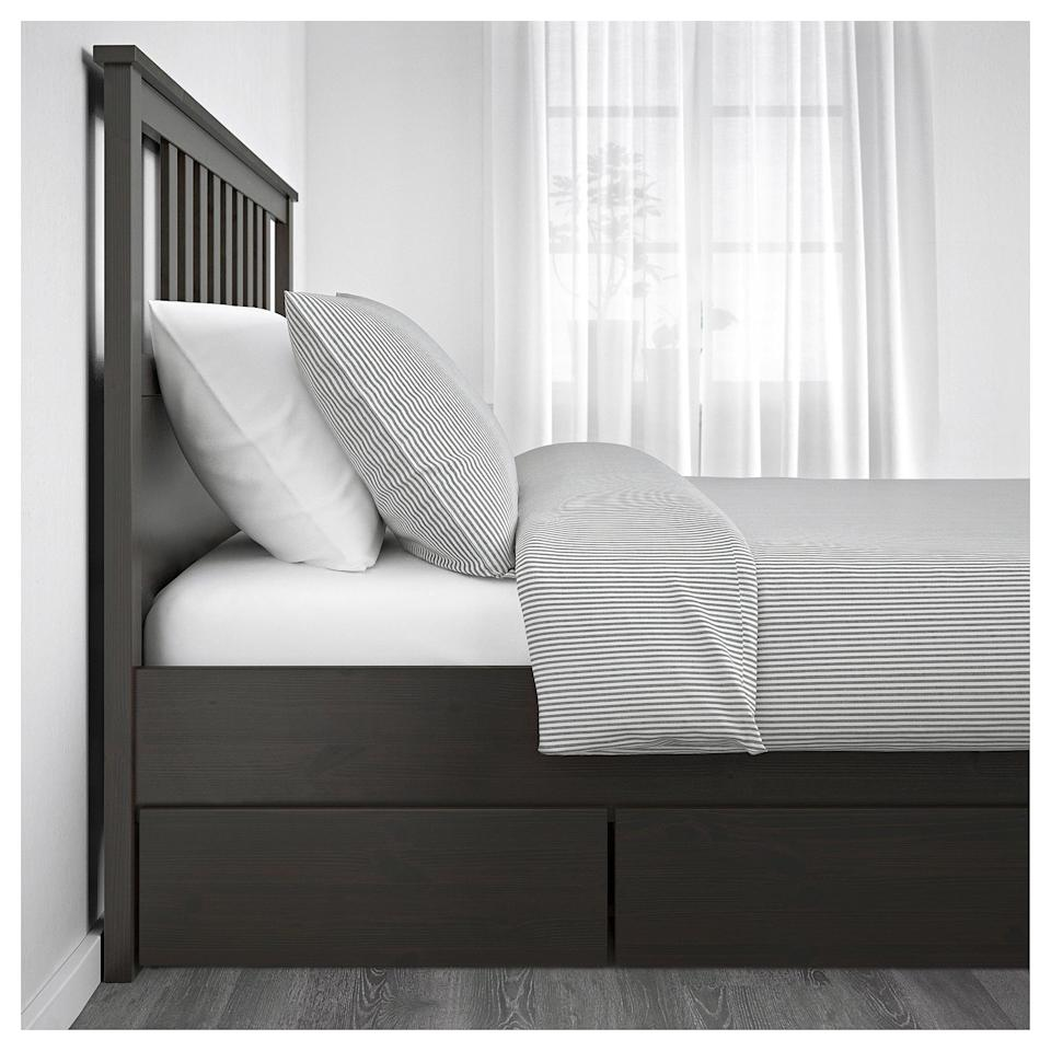 <p>The two large drawers that come with the <span>Hemnes Bed Frame </span> ($379) are life-changing.</p>