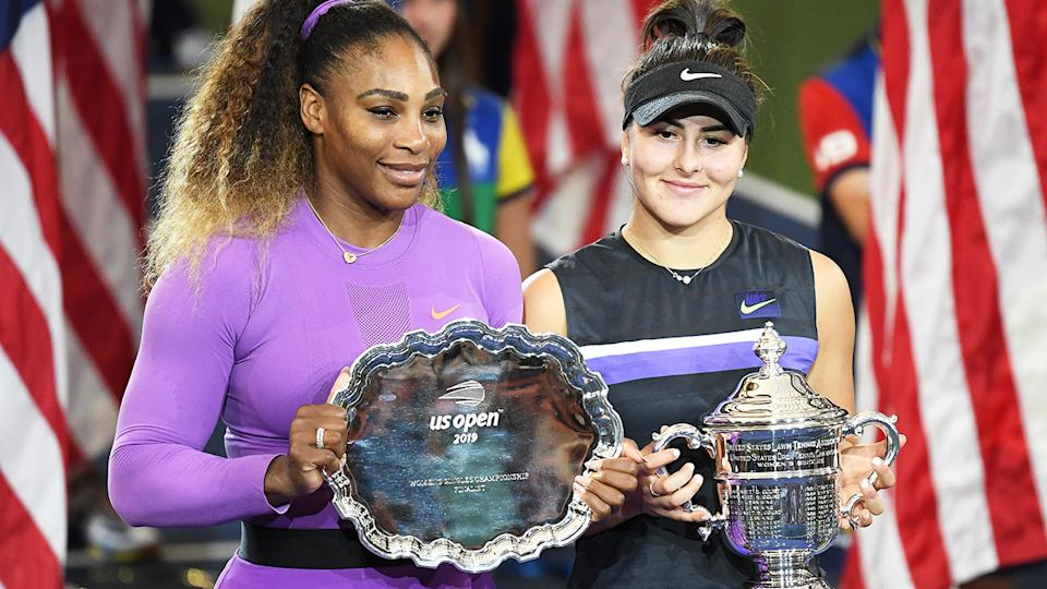 Serena Williams, pictured here after losing to Bianca Andreescu in the 2019 US Open final.