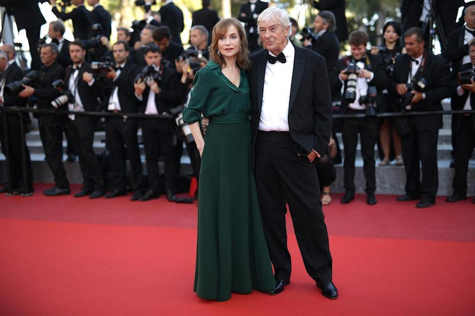 <p>Oscar nominee Isabelle Huppert wearing a bespoke Chloé dress to the 69th annual Cannes Film Festival in May 2016. (Photo: Getty Images) </p>
