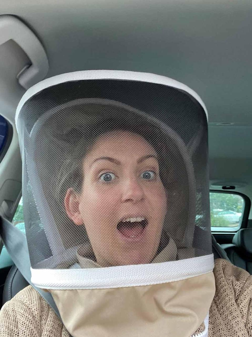 Sally loves to keep her bees in her bee suit (Collect / PA Real Life).