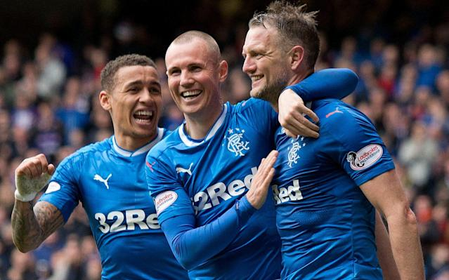 <span>Kenny Miller (centre) and Clint Hill (right) could yet be offered new contracts</span> <span>Credit: PA </span>