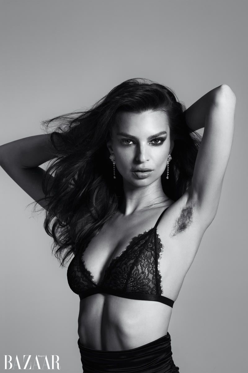 Ratajkowski showed off her underarm in a shoot with Michael Avedon. (Photo: Harper's Bazaar/Michael Avedon)