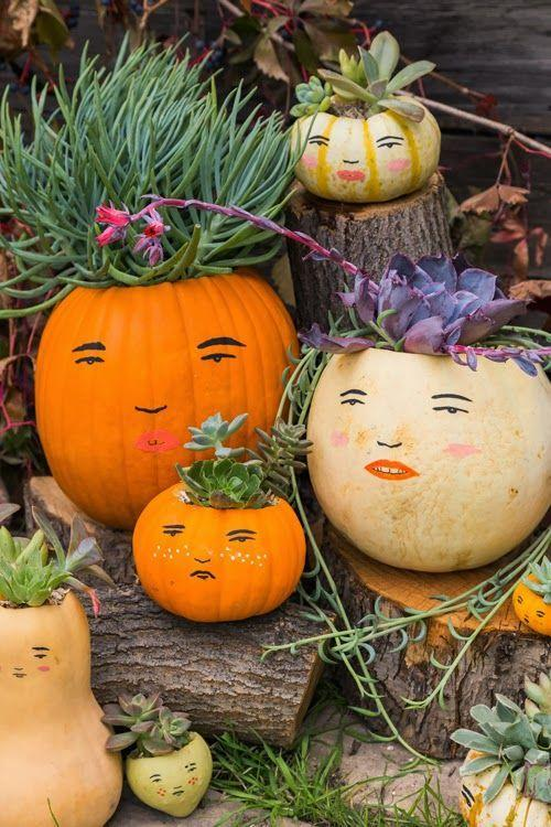 "<p>The greatest pumpkin-decorating inspiration of all? Your own family! Use different shapes and sizes to create a gourd replica of everyone in your household, with succulents doubling as pumpkin ""hair."" And don't worry about free-handing the faces—the tutorial comes with an easy template. </p><p><strong>Get the tutorial at <a href=""https://thehousethatlarsbuilt.com/2013/10/make-a-pumpkin-family.html/"" rel=""nofollow noopener"" target=""_blank"" data-ylk=""slk:The House That Lars Built"" class=""link rapid-noclick-resp"">The House That Lars Built</a>.</strong></p><p><strong><a class=""link rapid-noclick-resp"" href=""https://www.amazon.com/Fine-Detail-Paint-Brush-Set/dp/B014GWCLFO/ref=sr_1_2?tag=syn-yahoo-20&ascsubtag=%5Bartid%7C10050.g.279%5Bsrc%7Cyahoo-us"" rel=""nofollow noopener"" target=""_blank"" data-ylk=""slk:SHOP FINE PAINT BRUSHES"">SHOP FINE PAINT BRUSHES</a><br></strong></p>"